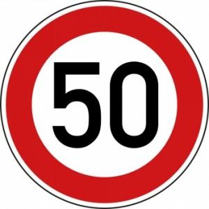 Zulaessige-Hoechstgeschwindigkeit-50-kmh-Verkehrsschild-Nr-274-55