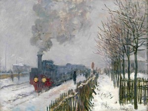 Claude Monet, Le train dans la neige. La locomotive, 1875 ©Paris, Musée Marmotton Monet