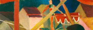 August Macke - Seiltänzer, 1914 (Detail)