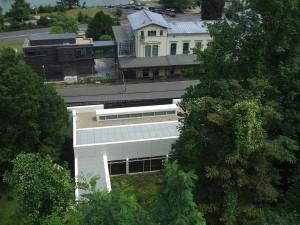 Bahnhof Rolandseck vom Neubau aus gesehen