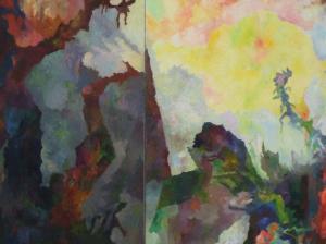 Bernard Schultze - denkend an Jörg Ratgeb, 1990 (Detail)