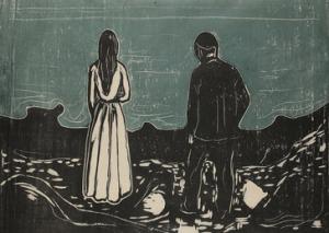 Edvar Munch - Die Einsamen, 1899 (1917)
