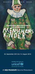 Menschenskinder!, Arp Museum 2015-16, Flyer