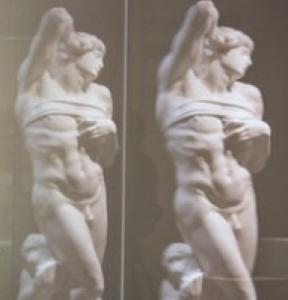 Michelangelo - Sog. Sterbender Sklave, Gipsabguss