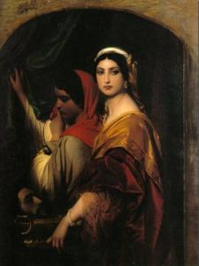 Paul Hippolyte Delaroche – Herodias mit dem Haupt Johannes des Täufers, 1843