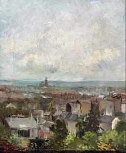 Vincent van Gogh - Blick auf die Dächer von Paris, 1886 - National Gallery Of Ireland