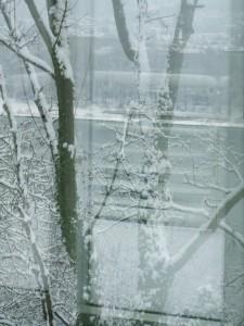 Winterliche Impression Arp Museum Spiegelung